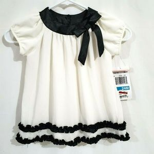 Rare Editions Dress Size 24 Months Ivory White